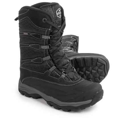 Khombu Fred-K Snow Boots - Waterproof, Insulated (For Men) in Black/Grey - Closeouts