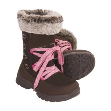 Khombu Frosty Boots (For Girls) in Dark Brown - Closeouts