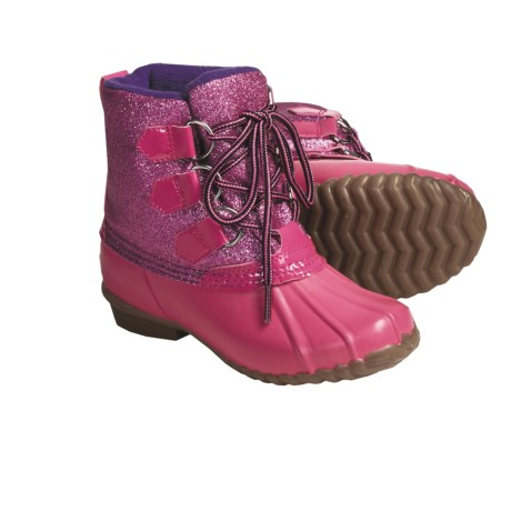 Khombu Glitter Bean High Winter Boots - Waterproof, Fleece Lined (For Girls) in Fuchsia