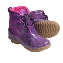 Khombu Glitter Bean High Winter Boots - Waterproof, Fleece Lined (For Girls) in Purple - Closeouts