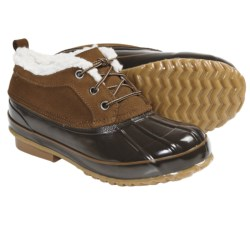 Khombu Glossy Winter Boots (For Women) in Brown