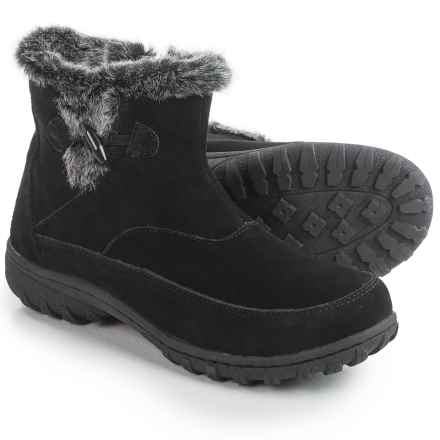 Khombu Gracie Snow Boots - Suede (For Women) in Black - Closeouts
