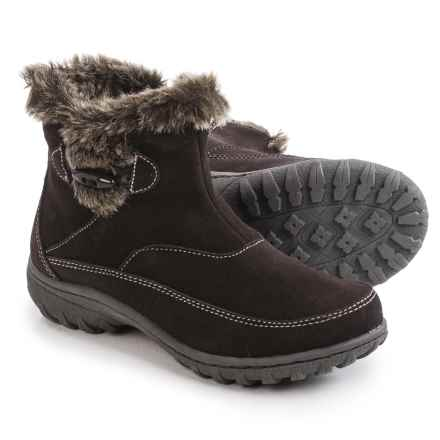 Khombu Gracie Snow Boots - Suede (For Women) in Brown - Closeouts