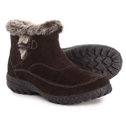 Khombu Gracie Snow Boots - Suede (For Women) in Chocolate - Closeouts