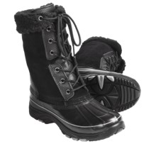Khombu Highland 2 Suede Pac Boots - Waterproof, Faux-Fur Lining (For Women) in Black - Closeouts