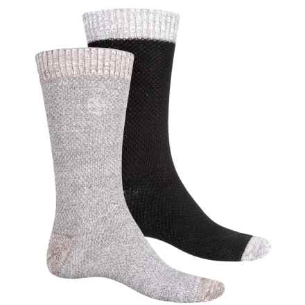 Khombu Honeycomb Socks - 2-Pack, Cotton Blend, Crew (For Men) in Grey - Closeouts