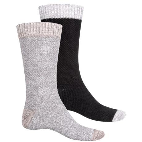 Khombu Honeycomb Socks - 2-Pack, Cotton Blend, Crew (For Men)