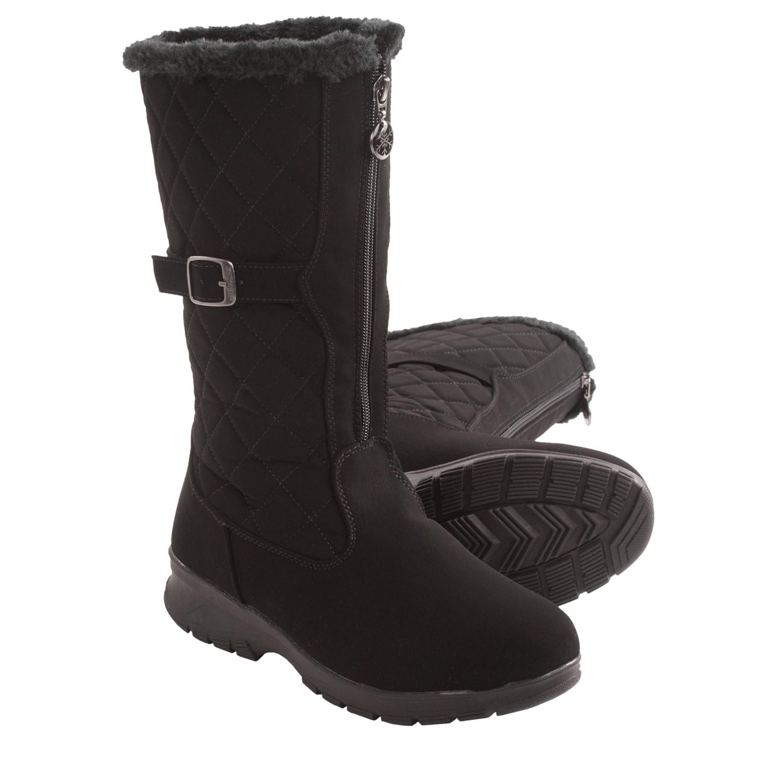 Luxury Khombu Ashlyn Women Gray Snow Boot Boots