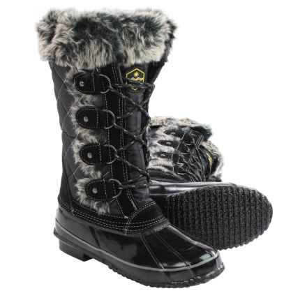 Khombu Jandice Pac Boots - Waterproof, Insulated (For Women) in Black - Closeouts