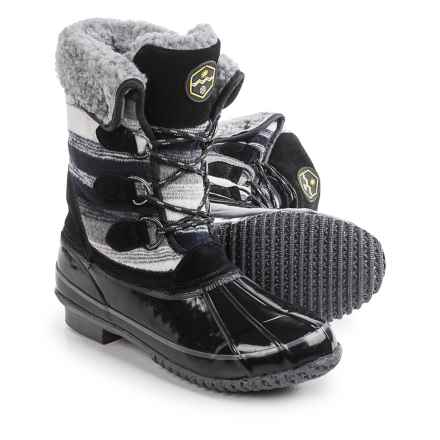 Khombu Jilly Snow Boots - Waterproof, Insulated (For Women) in Black Print - Closeouts