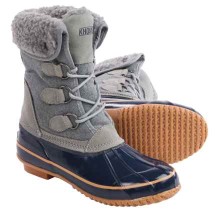 Khombu Jilly Snow Boots - Waterproof, Insulated (For Women) in Grey - Closeouts