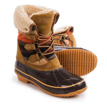 Khombu Jilly Snow Boots - Waterproof, Insulated (For Women) in Tan Print - Closeouts