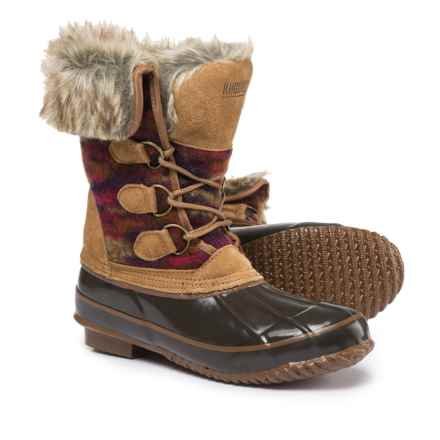 Khombu Julliard Duck Boots - Waterproof, Insulated (For Women) in Brown/Red - Closeouts