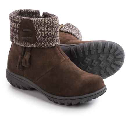 Khombu Katie Apres Ski Boots - Waterproof, Insulated, Suede (For Women) in Brown - Closeouts