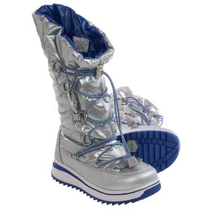 Khombu Koolmoon Pac Boots (For Little and Big Girls) in Silver - Closeouts
