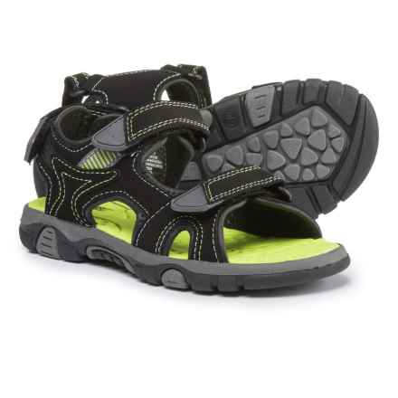 Khombu Larkin Sport Sandals (For Boys) in Black - Closeouts