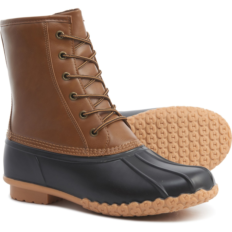 Khombu Leather Duck Boots (For Men