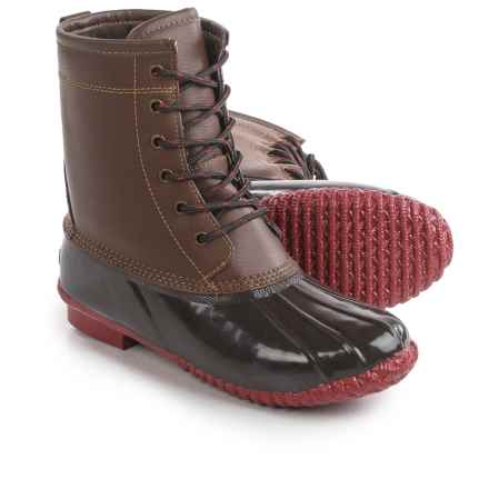 Khombu Letty Snow Boots - Waterproof, Insulated (For Women) in Brown/Red - Closeouts