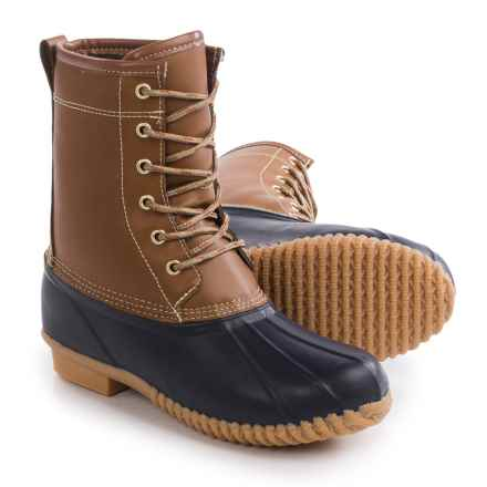 Khombu Letty Snow Boots - Waterproof, Insulated (For Women) in Tan/Navy - Closeouts