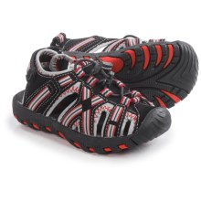 Khombu Lil' Rex Stripe Sandals - Waterproof (For Toddlers) in Black/Red - Closeouts