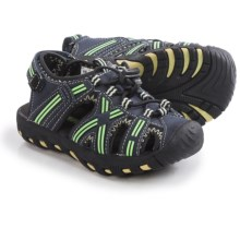 Khombu Lil' Rex Stripe Sandals - Waterproof (For Toddlers) in Blue/Lime - Closeouts