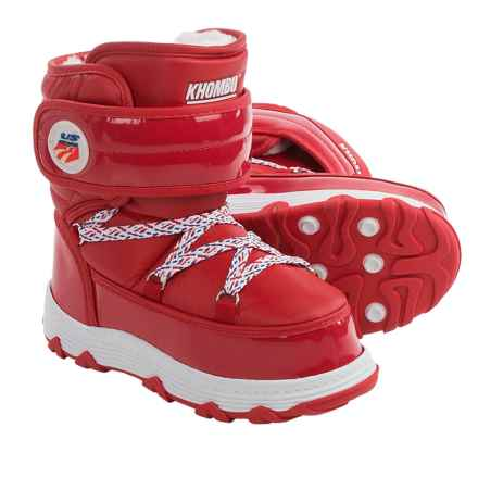 Khombu Lil Skit Snow Boots (For Little and Big Kids) in Red - Closeouts