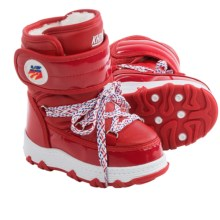 Khombu Lil Skit Snow Boots (For Toddlers) in Red - Closeouts