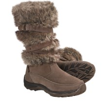Khombu Marker Fur Winter Boots - Insulated (For Women) in Tan - Closeouts