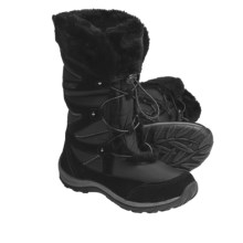 Khombu Marker Winter Boots - Suede-Nylon, Faux-Fur Lined (For Women) in Black - Closeouts