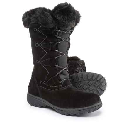 Khombu Meghan Suede Snow Boots - Waterproof, Insulated (For Women) in Black - Closeouts
