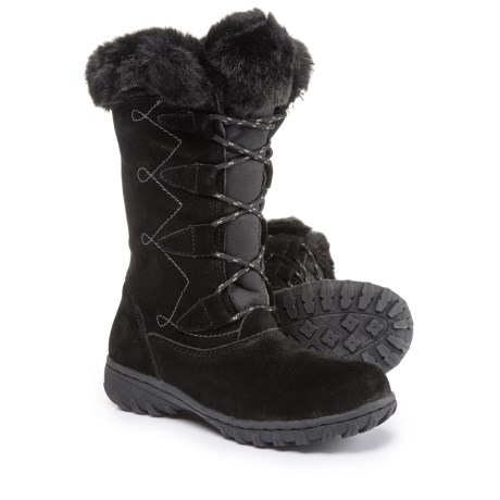 Khombu Meghan Suede Snow Boots - Waterproof, Insulated (For Women) in Black