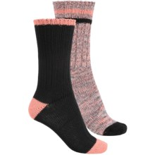 Khombu Melange Socks - 2-Pack, Crew (For Women) in Black/Pink - Closeouts