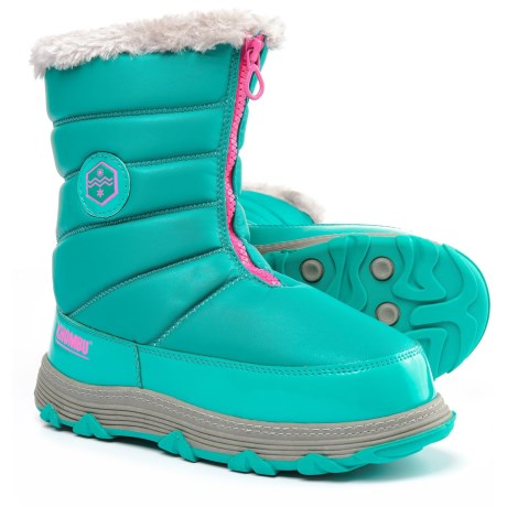 Khombu Mimi Snow Boots - Insulated (For Little and Big Girls) in Lapis/Pink