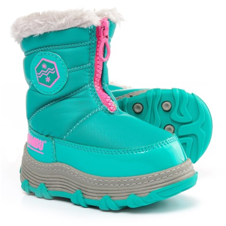 Khombu Mimi Snow Boots - Insulated (For Little and Big Girls) in Lapis