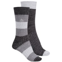 Khombu Mix Texture Socks - 2-Pack, Crew (For Women) in Grey - Closeouts