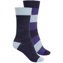 Khombu Mix Texture Socks - 2-Pack, Crew (For Women) in Navy - Closeouts