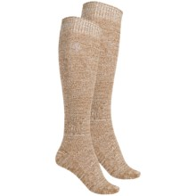 Khombu Mix Textured Knee-High Socks - 2-Pack, Over the Calf (For Women) in Tan - Closeouts
