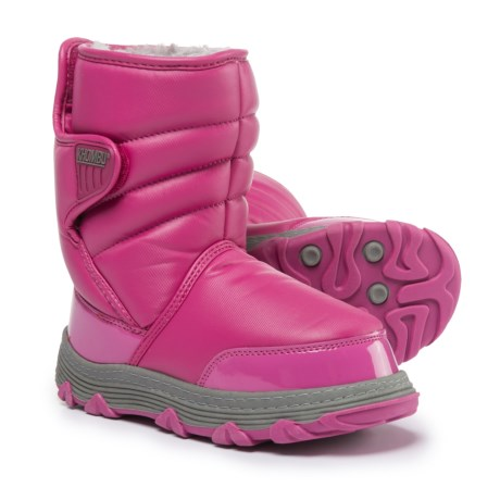 Khombu Moon Traveler Winter Boots - Weatherproof, Insulated (For Little Girls) in Pink