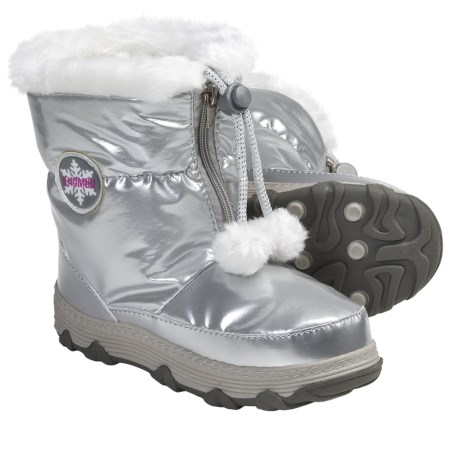 Khombu Moon Traveler Winter Boots - Weatherproof, Insulated (For Youth Girls) in Silver