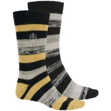 Khombu Nub Stripe Socks - 2-Pack, Crew (For Men) in Black - Closeouts