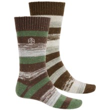 Khombu Nub Stripe Socks - 2-Pack, Crew (For Men) in Brown - Closeouts