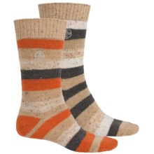 Khombu Nub Stripe Socks - 2-Pack, Crew (For Men) in Tan - Closeouts