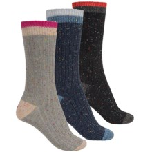 Khombu Nub Yarn Boot Socks - 3-Pack, Crew (For Women) in Navy/Grey/Black - Closeouts