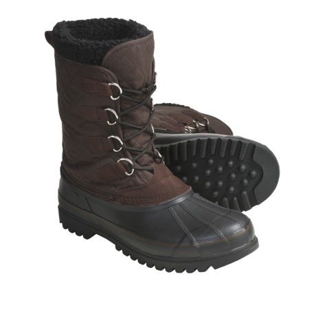 Khombu Packer Winter Boots - Waterproof, Faux-Fur Lining (For Men) in Dark Brown