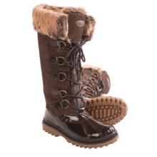 Khombu Quechee Stingray Snow Boots - Insulated (For Women) in Brown - Closeouts