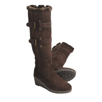 Khombu Rainbow Boots - Suede, Faux-Fur Lining (For Women) in Dark Brown