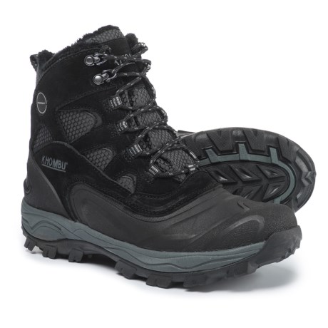 Khombu Ranger Snow Boots - Waterproof, Insulated (For Men) in Black