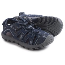 Khombu Rex Printed Sandals (For Little Boys) in Navy Camo - Closeouts