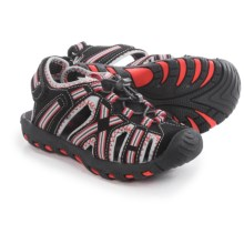 Khombu Rex Stripe Sandals - Waterproof (For Little Boys) in Black/Red - Closeouts