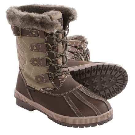Khombu Rochelle Snow Boots - Waterproof, Insulated (For Women) in Tan - Closeouts
